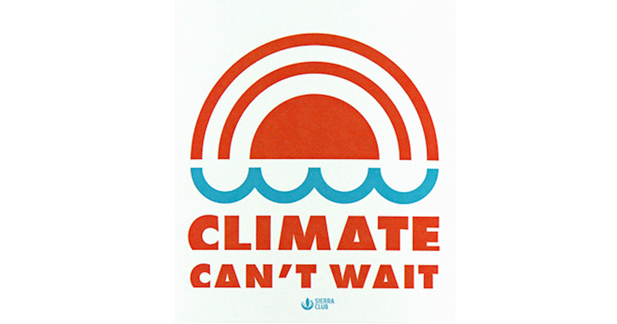 FREE Climate Can't Wait Sticke...
