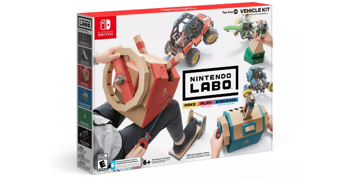 Nintendo Labo Toy-Con Vehicle Kit ONLY $17.09 (Reg. $39)