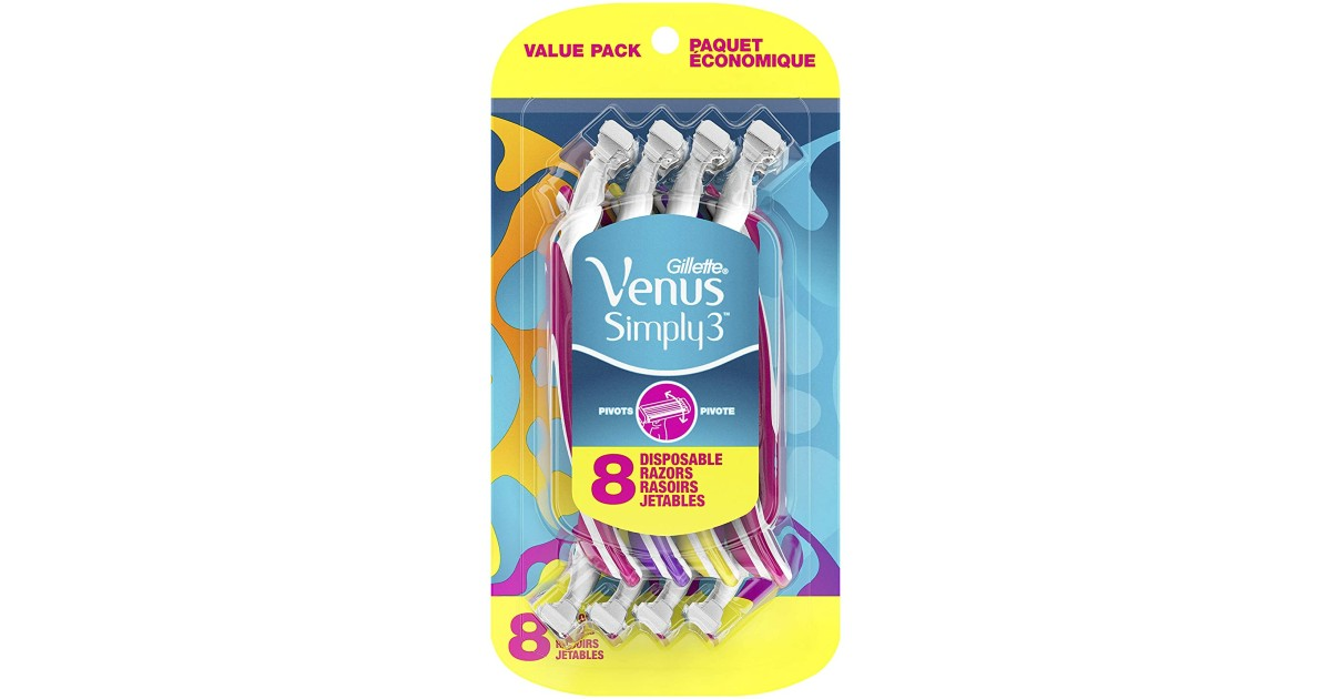 8-Count Gillette Venus Simply3 ONLY $5.97 Shipped (Reg $11)