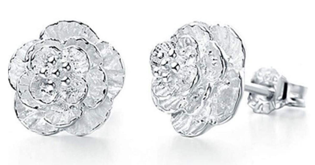 Elegant Small Flower Stud Earrings ONLY $1 Shipped