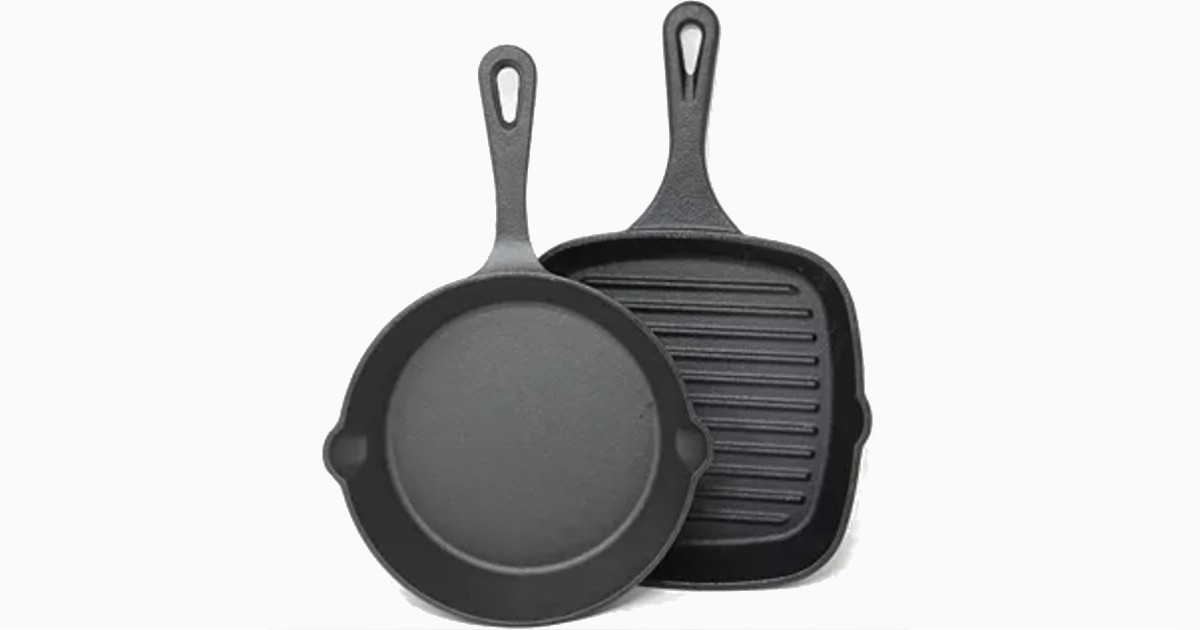 Sedona Cast Iron Mini Skillet & Griddle Set ONLY $9.99 (Reg $30)