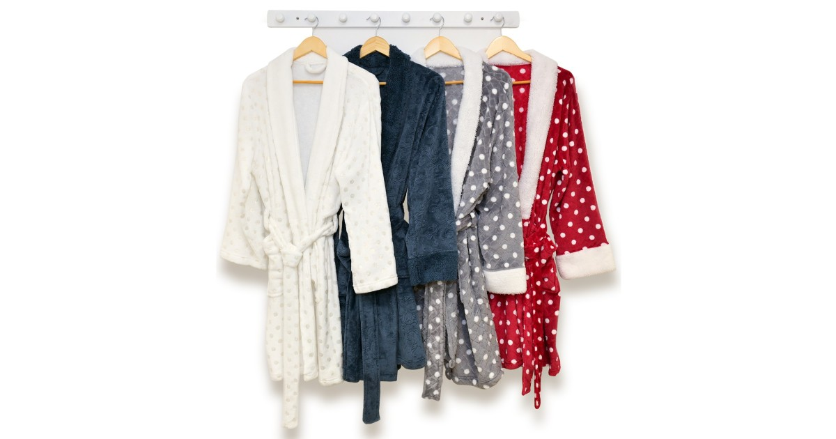 Martha Stewart Collection Plush Bath Robe ONLY $25.99 (Reg. $60)