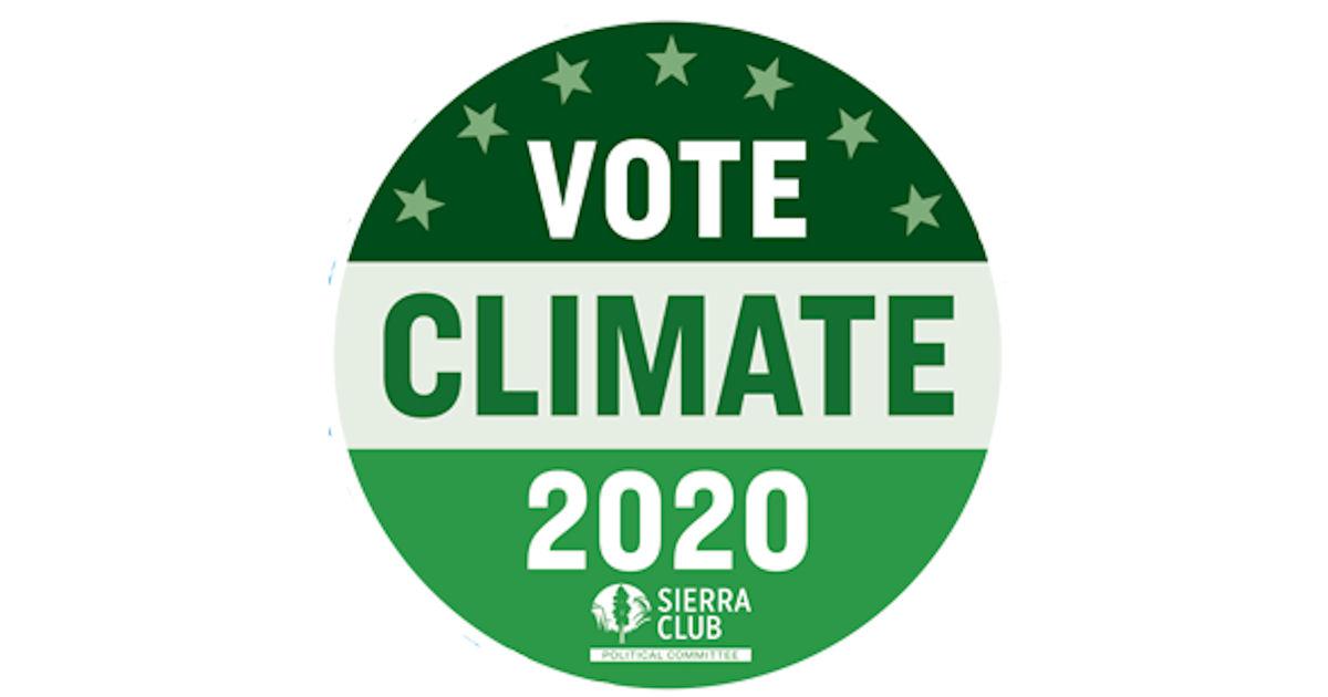 FREE Vote Climate 2020 Sticker...