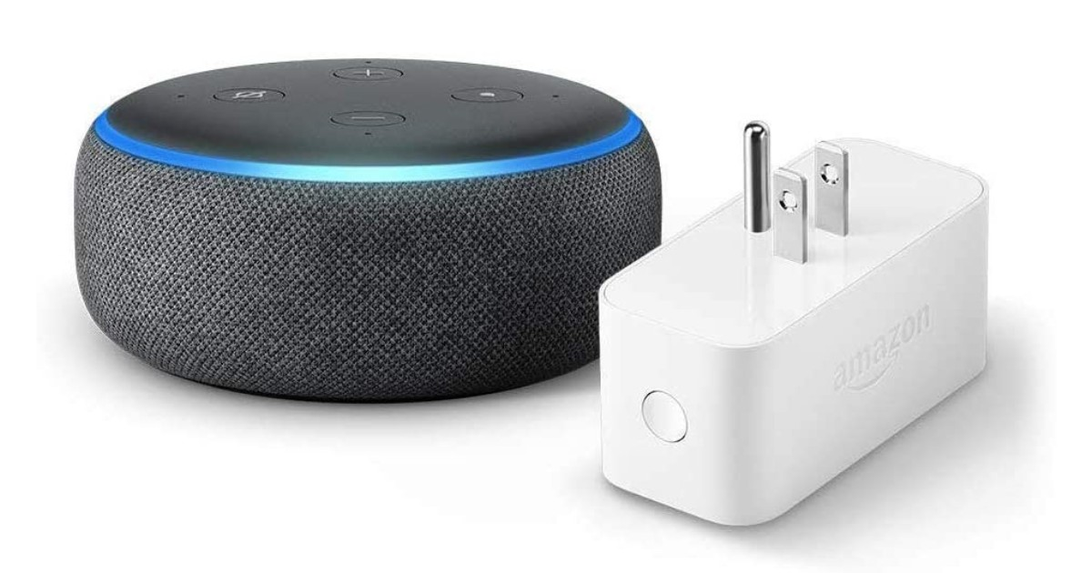 Echo Dot Bundle w/ Amazon Smart Plug ONLY $23.98 (Reg $65)