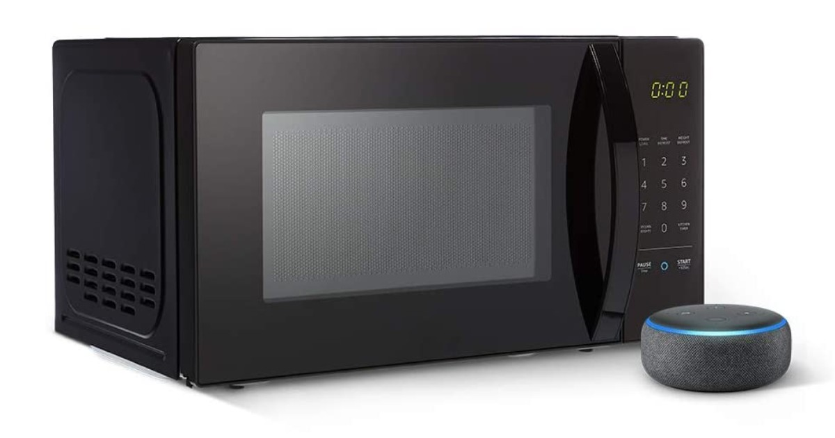 AmazonBasics Microwave & Echo Dot ONLY $59.99 Shipped (Reg $110)