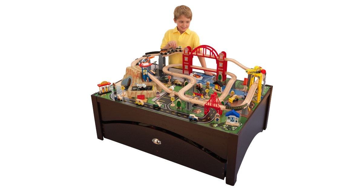 KidKraft Metropolis Wooden Train Set & Table $140 (Reg. $240)
