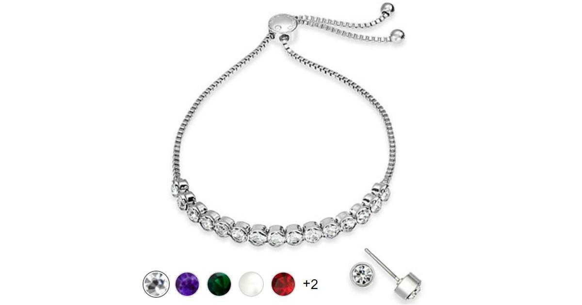 Bracelet & Stud Earrin...
