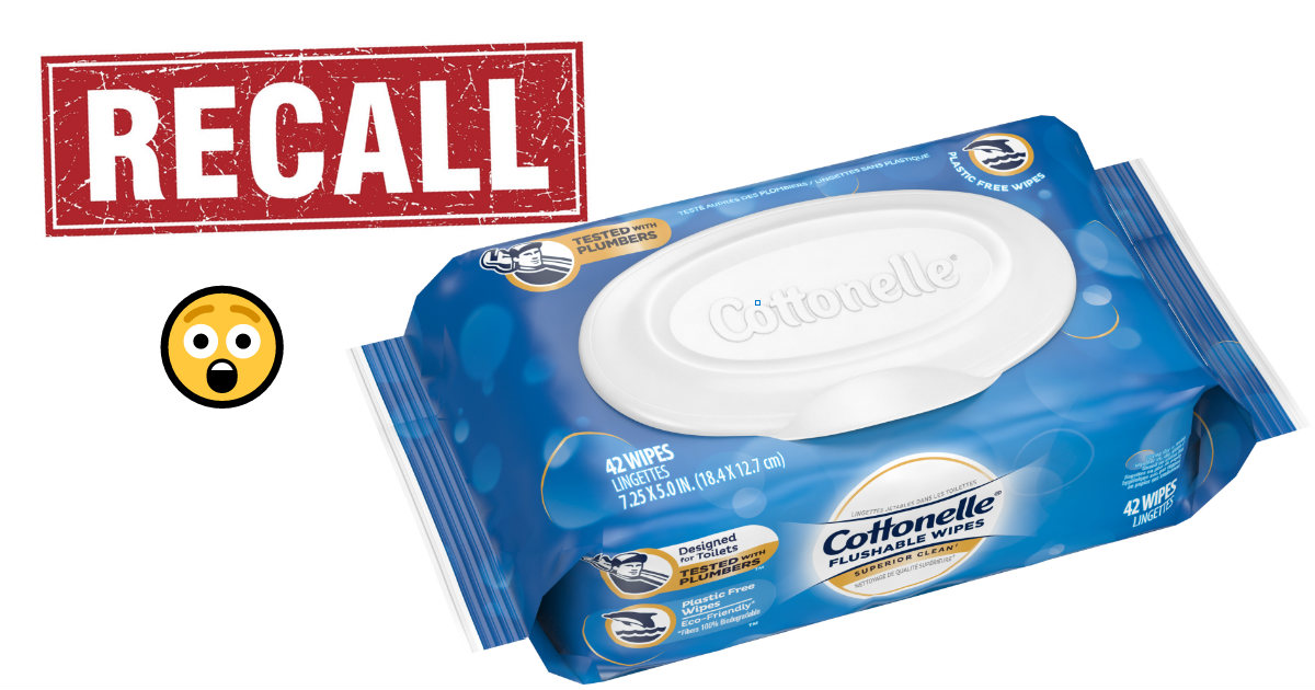 Cottonelle wipes recall