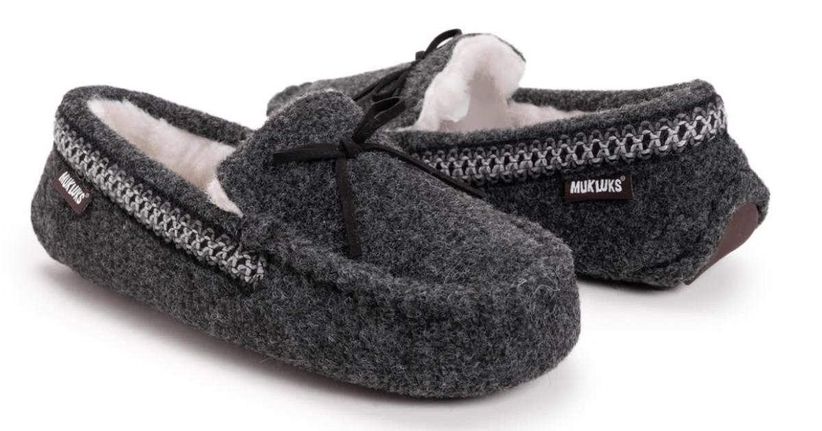 MUK LUKS Men's Ethan Moccasin Slippers ONLY $21.99 (Reg $44)