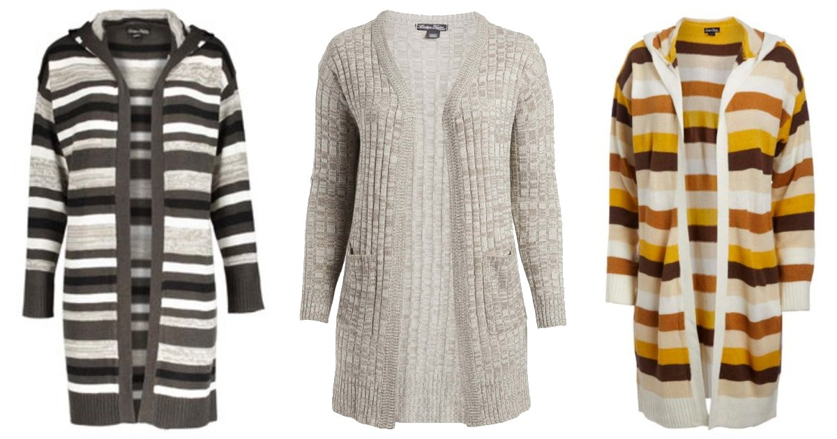 Evelyn Taylor Hooded Cardigan ONLY $7.99 (Reg $88)