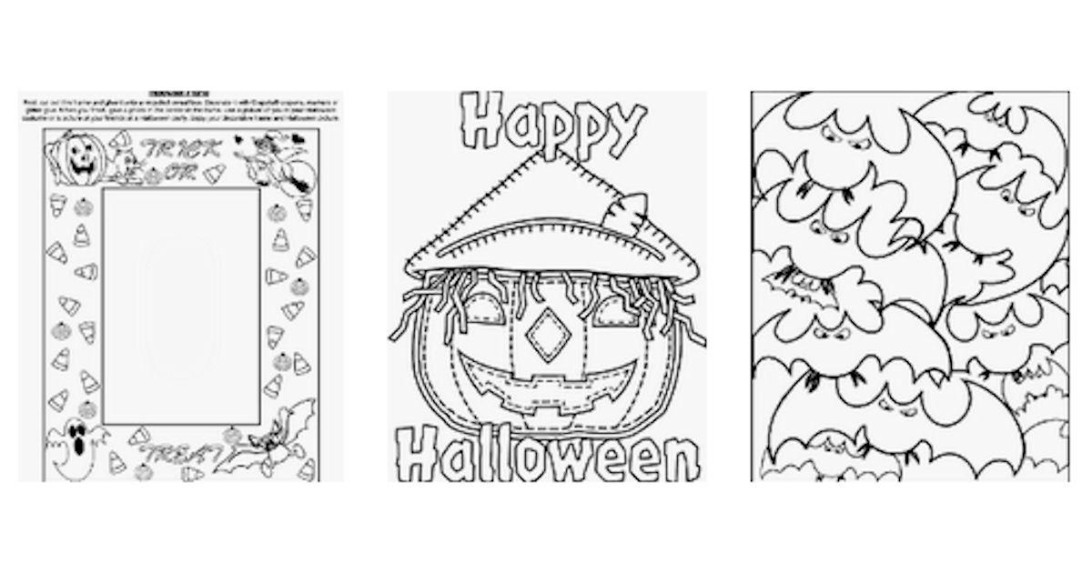 FREE Crayola Halloween Activit...