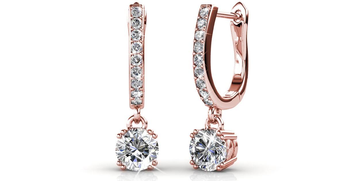 Cate & Chloe McKenzie 18k White Gold Earrings ONLY $19.99