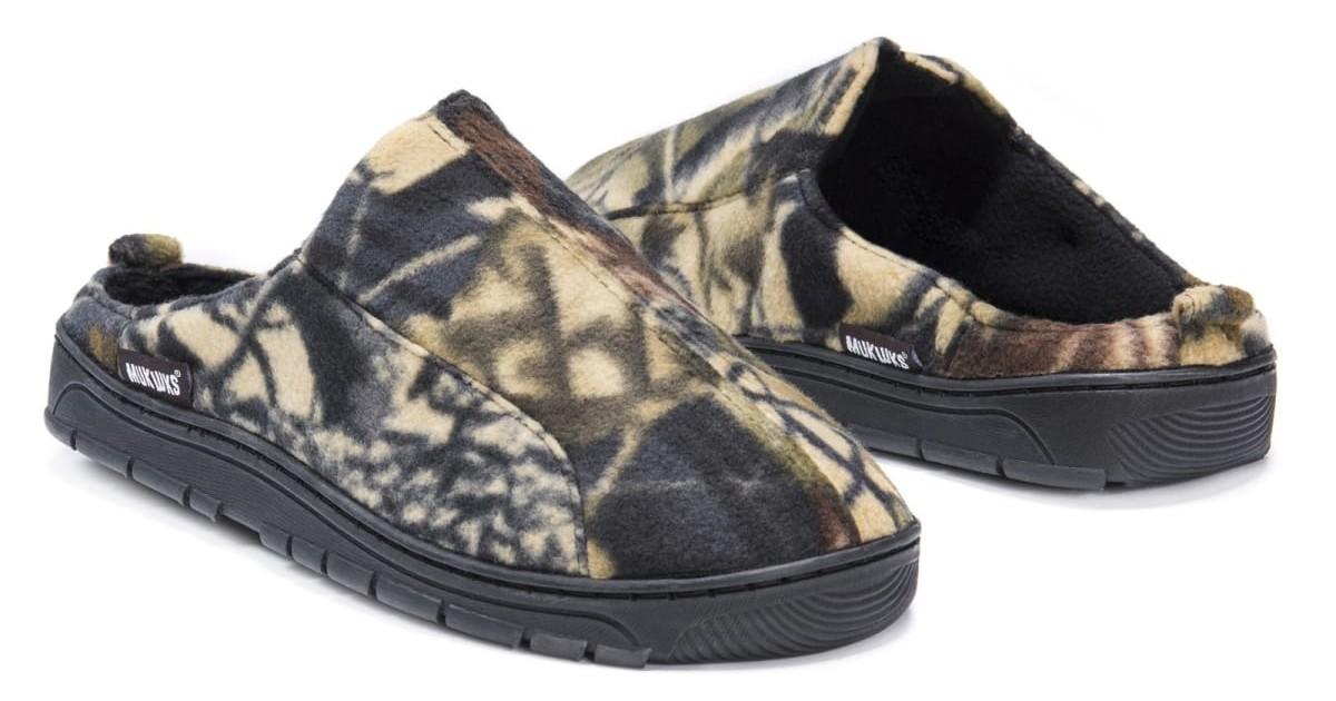 MUK LUKS Men's Camouflage Slippers ONLY $18.99 (Reg. $40)