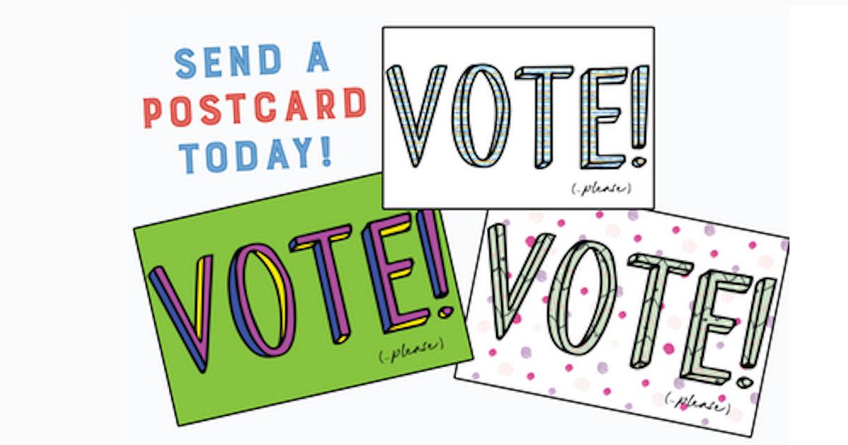5 FREE Vote Postcards...