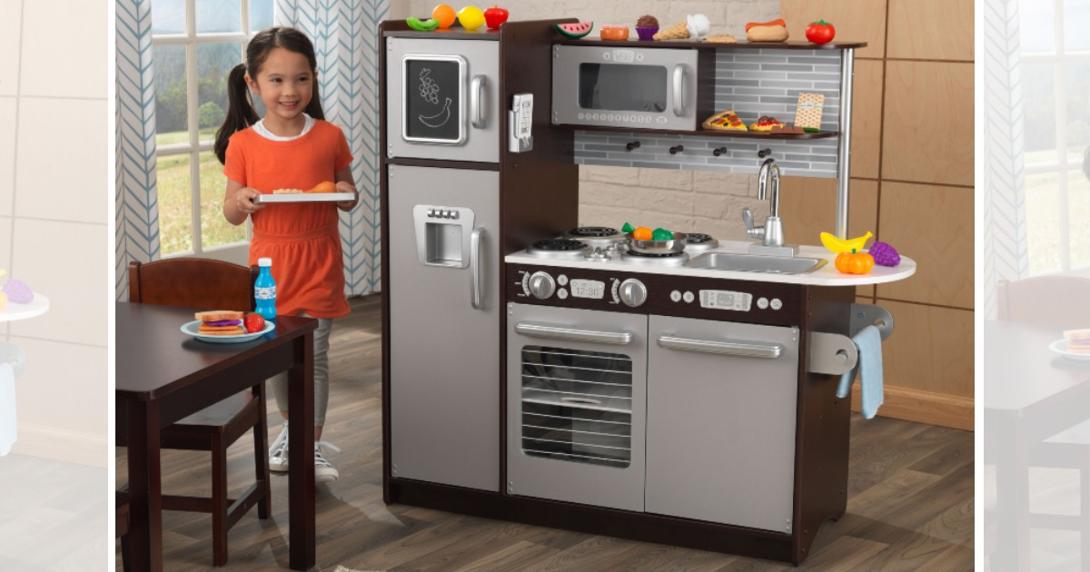 KidKraft Uptown Espresso Kitchen at Walmart