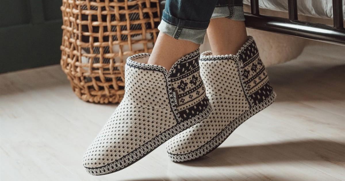 MUK LUKS Women's Leigh Bootie Slippers ONLY $16.99 (Reg $40)