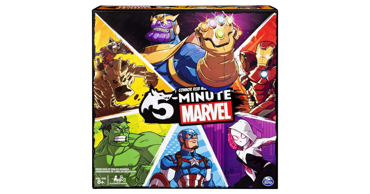 5-Minute Marvel Card Game on Amazon