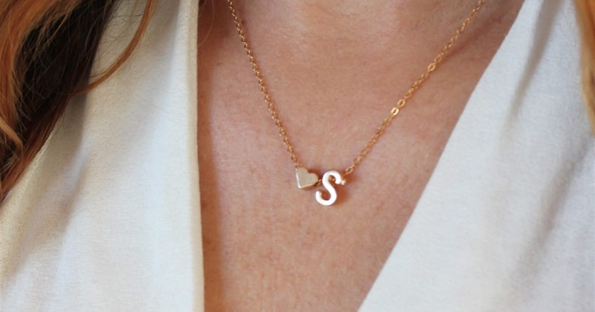Initial Necklace ONLY $6.99 Shipped (Reg $23)