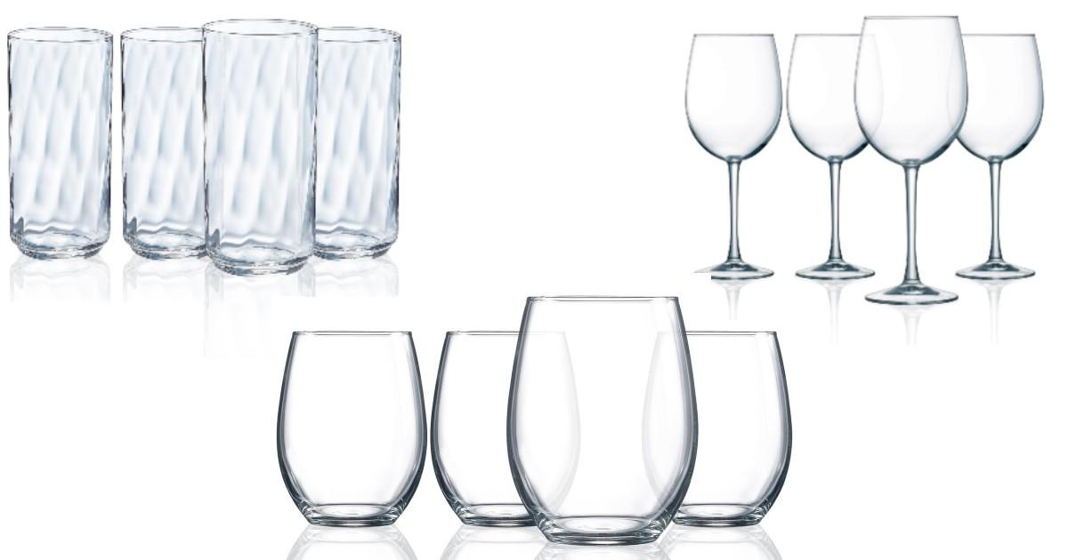 Luminarc 4-Piece Glassware Sets ONLY $3.99 (Reg $25)