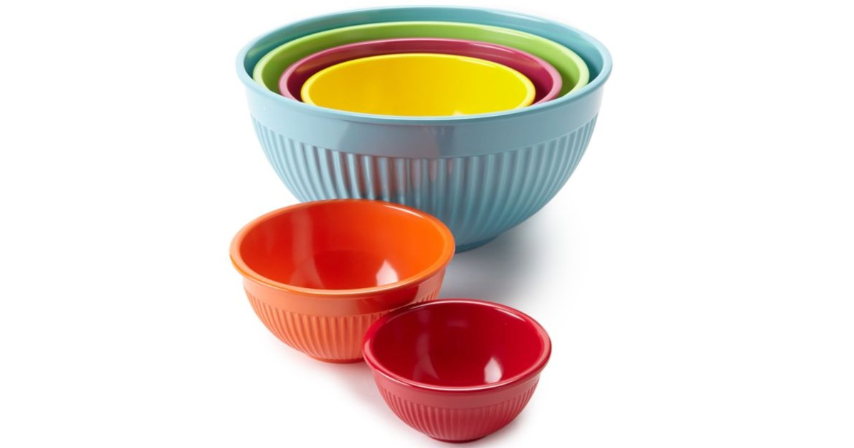 Cooks Tools 6-Pc Melamine Mixing Bowl Set ONLY $20 (Reg $50)