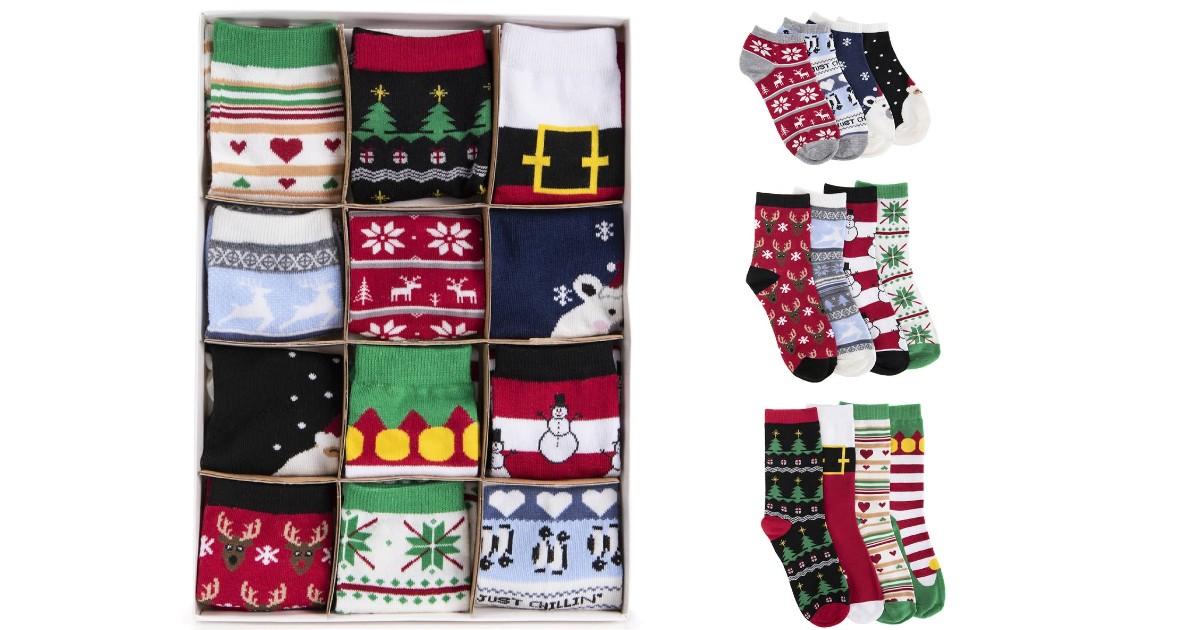 MUK LUKS Women's 12 Days of Socks ONLY $16.99 (Reg $28)