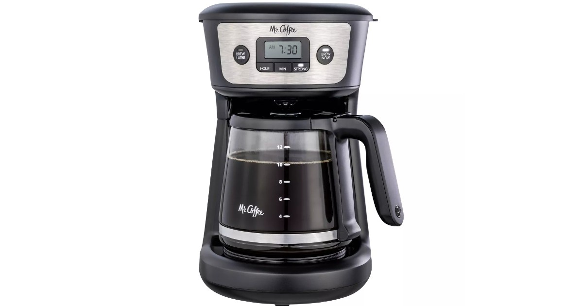 Mr. Coffee 12-Cup Coffee Maker ONLY $14.99 (Reg $30)