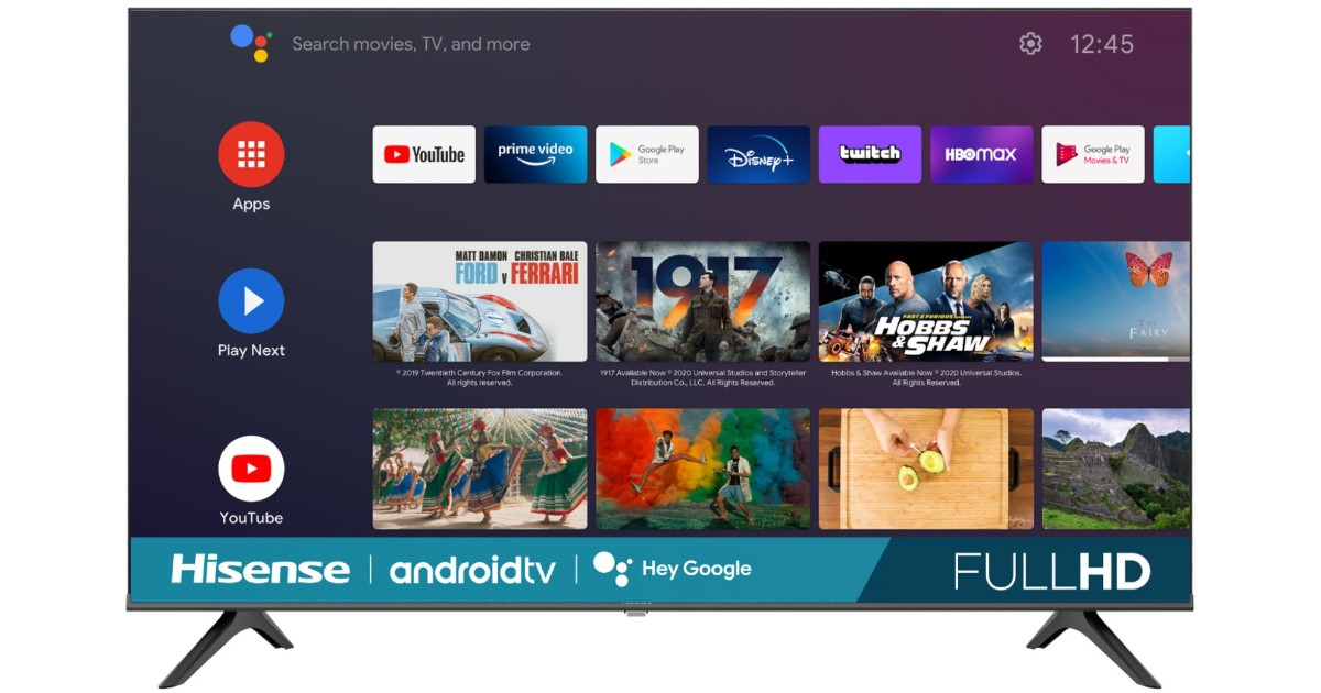 Hisense 43-Inch Smart Android TV ONLY $189.99 Shipped (Reg $300)
