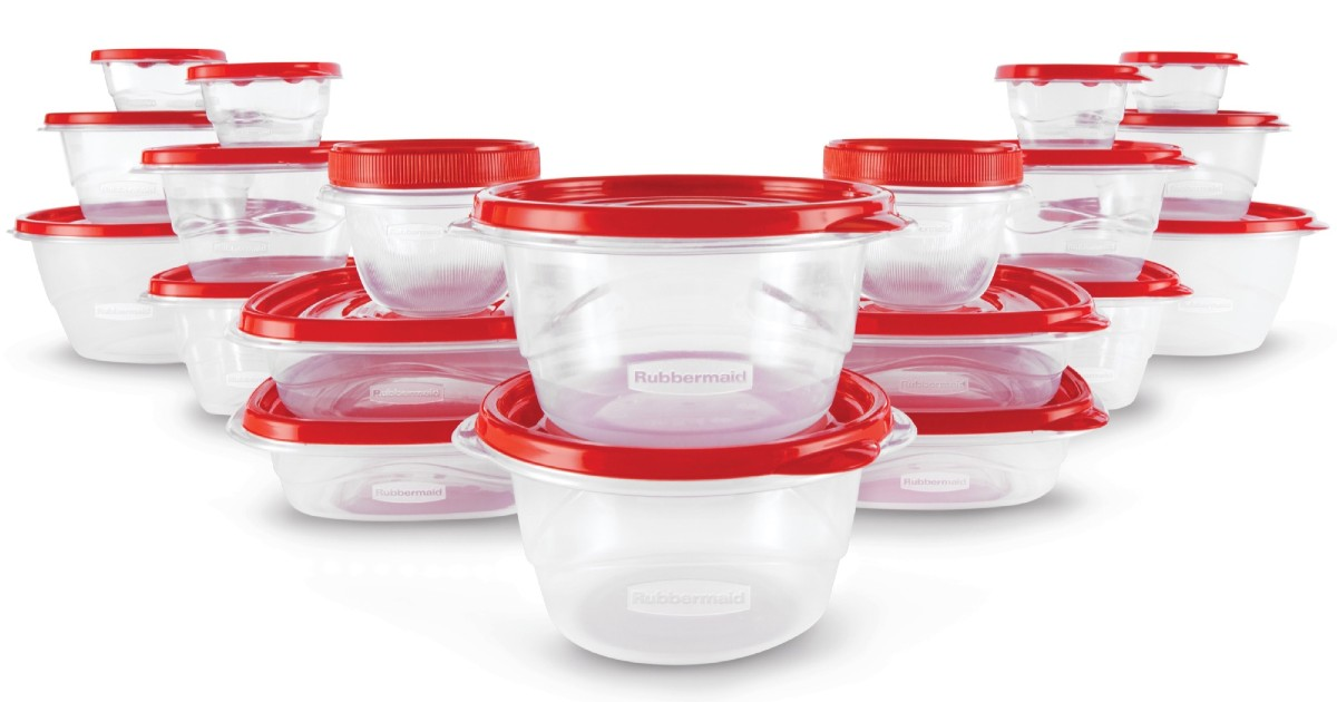 Rubbermaid Food Storage Containers 40pc ONLY $9.98 at Walmart