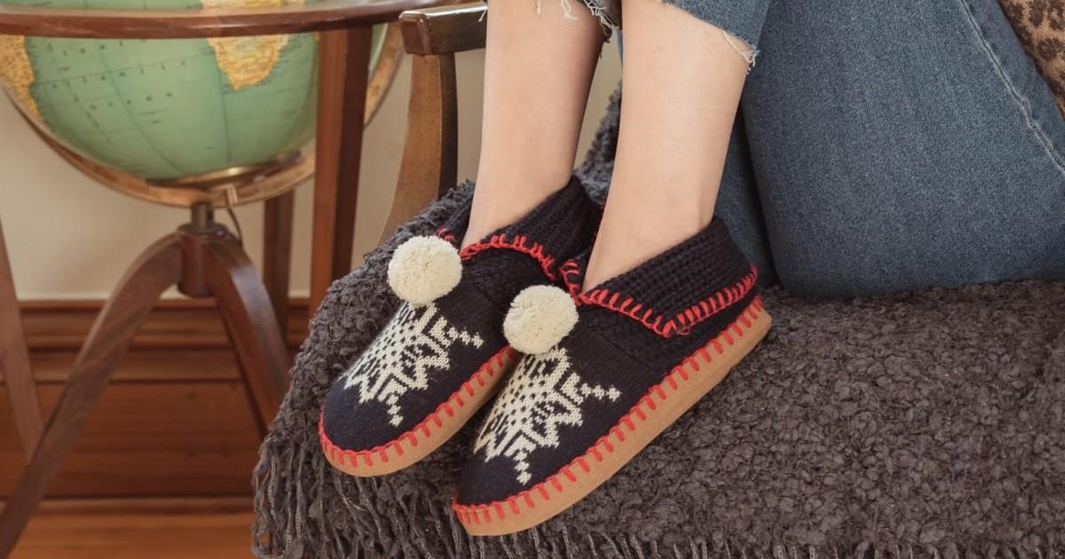MUK LUKS Knit Moccasin ONLY $14.99 (Reg $22)