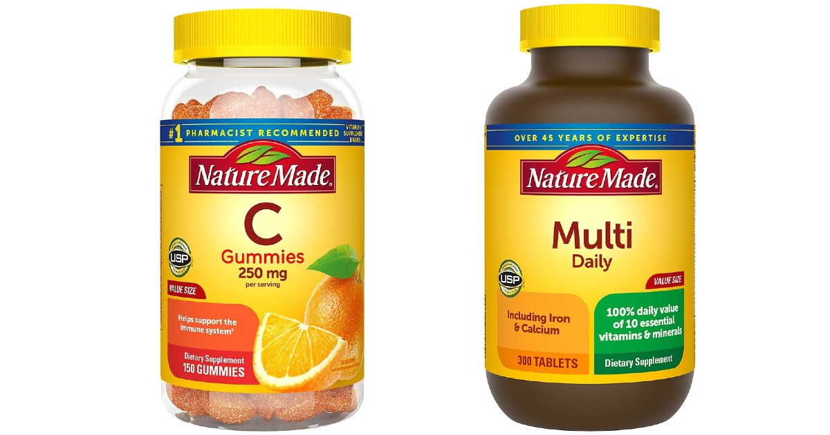 Save up to 60% on Nature Made Vitamins + Free Shipping