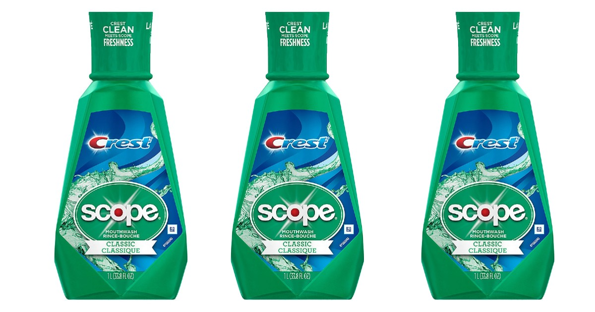 3 Bottles of Crest Scope Mouthwash ONLY $6.97 + Free Shipping