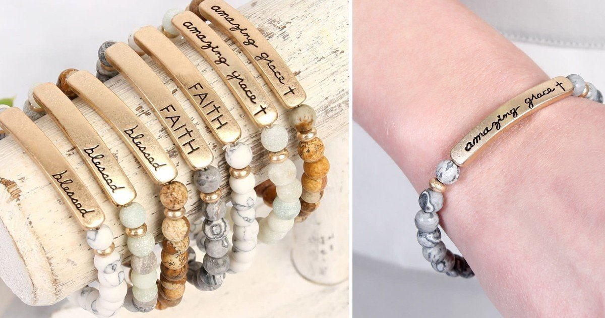 Religious Engraved Message Bracelets ONLY $7.99 (Reg $20)