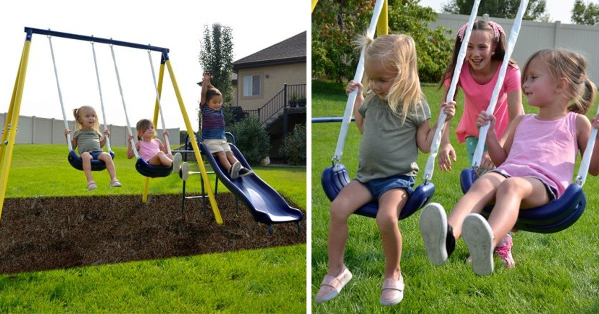 Swing Set with Slide ONLY $69 Shipped (Reg $135)