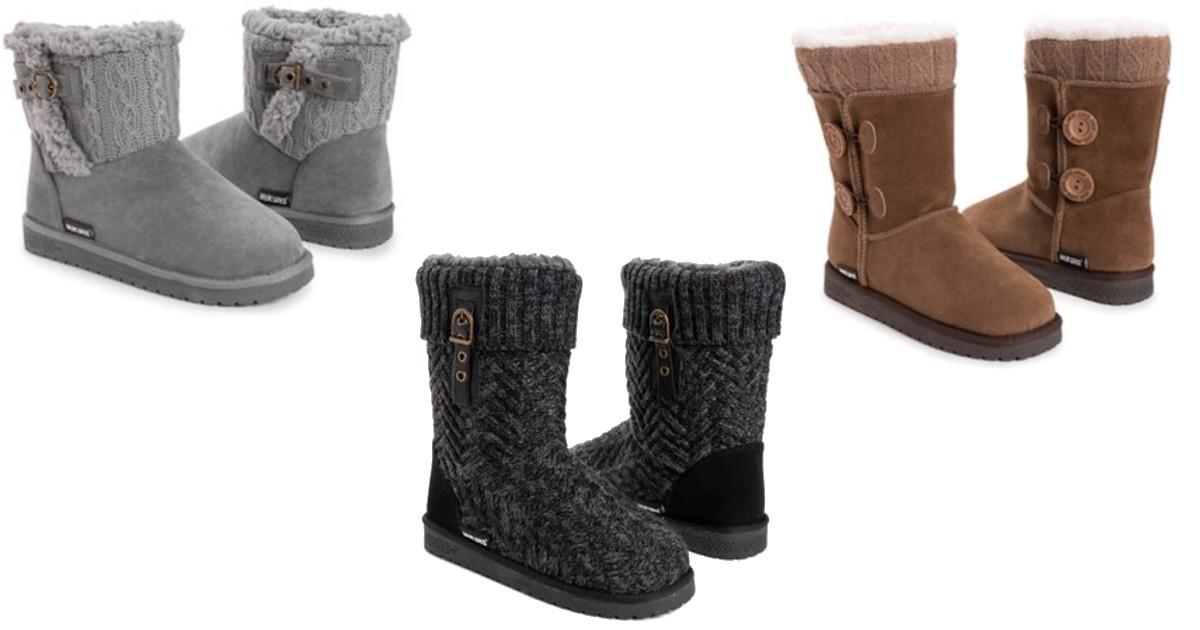 Muk Luks Women's Comfort Boots ONLY $19.99 (Reg. $65)
