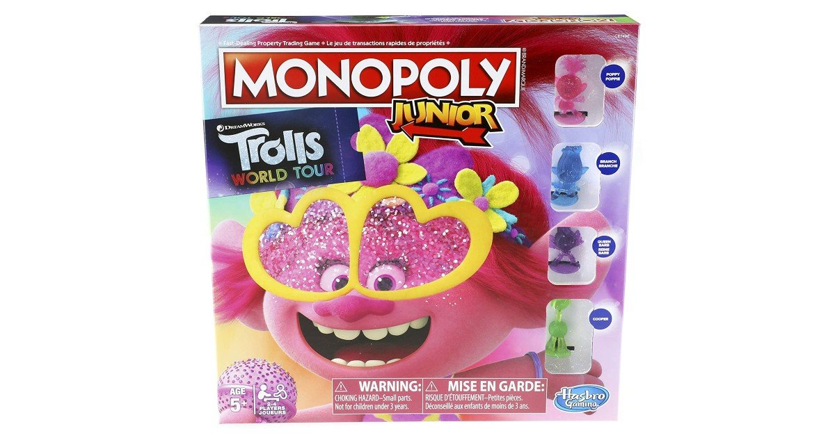 Monopoly Junior Trolls World Tour Edition ONLY $8.87 (Reg. $15)