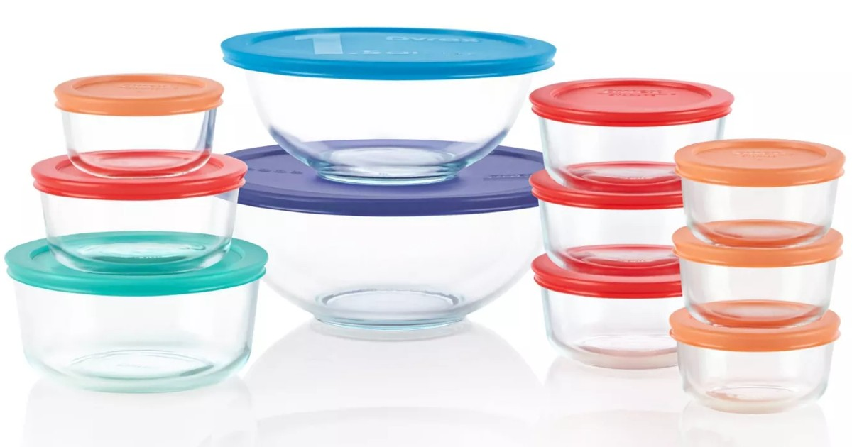 Pyrex 22-pc Glass Food Storage Set ONLY $17.99 (Reg $60)