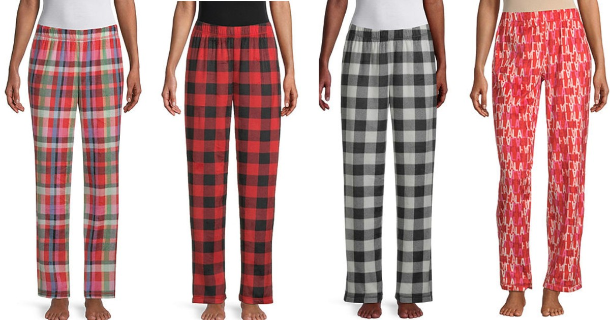 Womens Fleece Pajama Pants ONLY $5.99 at JCPenney (Reg $24)