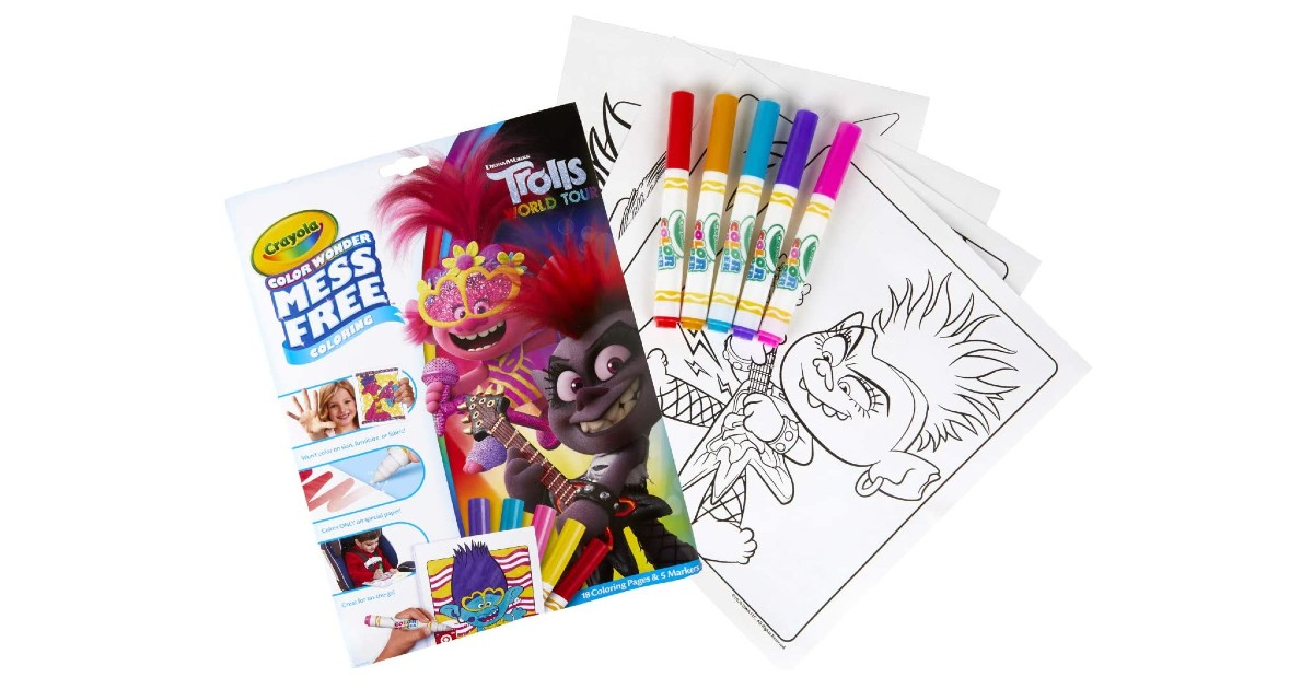 Crayola Wonder Trolls 2 Pages ONLY $3.97 (Reg. $8)
