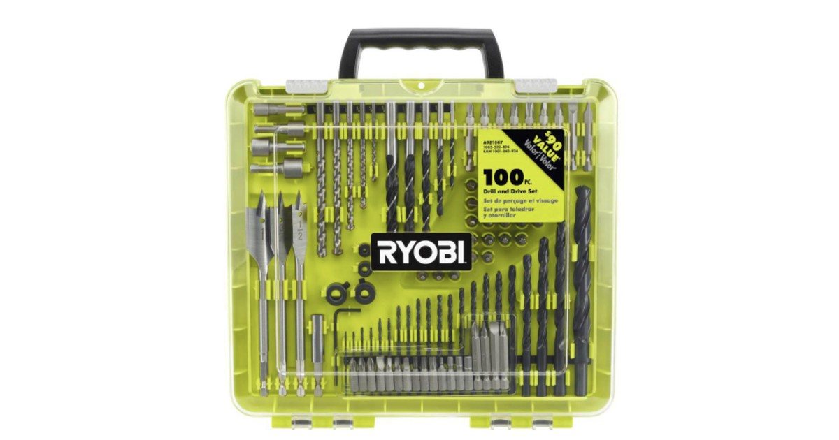 Ryobi 100 Piece Drill and Driv...