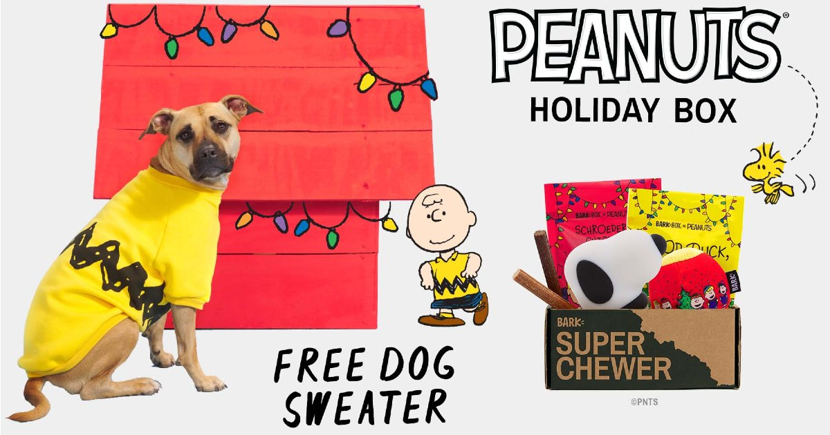 Free Peanuts Sweater withPeanuts Holiday Box fromSuper Chewer