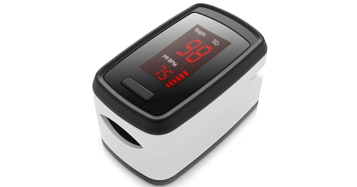 Portable Blood Oxygen & Pulse Monitor ONLY $9.99 (Reg $30)