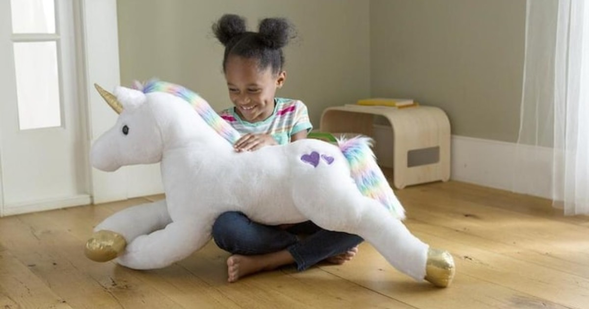 HearthSong Razzle Unicorn ONLY $19.99 at Lowe's (Reg $40)