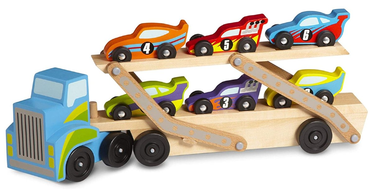 Melissa & Doug Mega Race-Car Carrier $16.96 (Reg. $30)