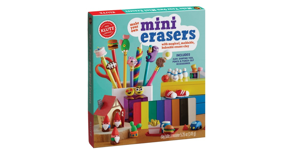 KLUTZ Make Your Own Mini Erasers Toy ONLY $11.33 (Reg. $22)