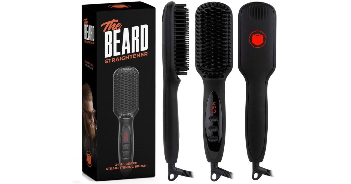 Beard Straightening Brush ONLY $19.99 (Reg $35)