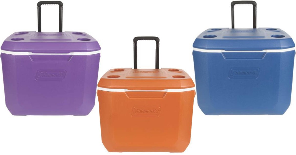 Coleman 50-Quart Cooler with Wheels ONLY $26.83 (Reg $49)