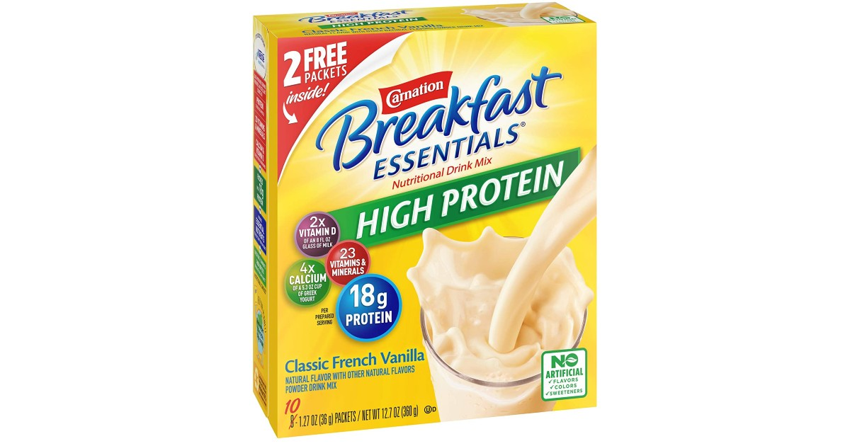 Carnation Breakfast Essentials Vanilla Mix $0.43 per Packet