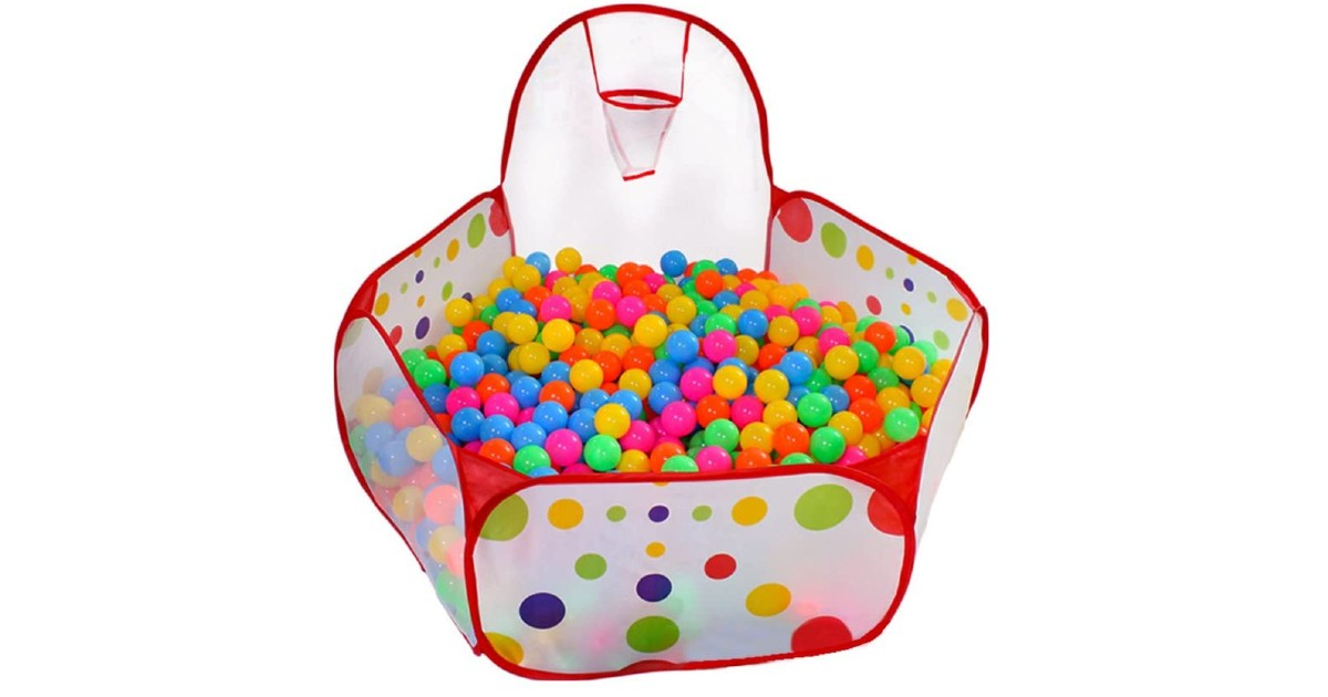 Ball Pit Play Tent with Basketball Hoop ONLY $14.99 (Reg $25)
