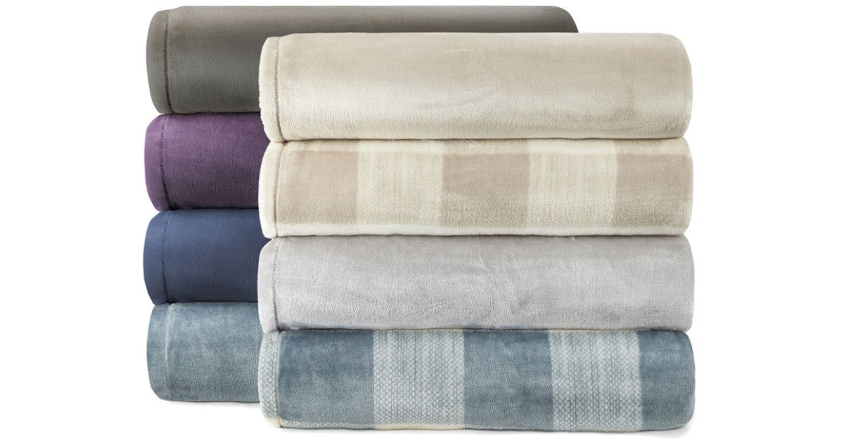 Home Expressions Velvet Plush Blanket ONLY $17.24 (Reg $40)