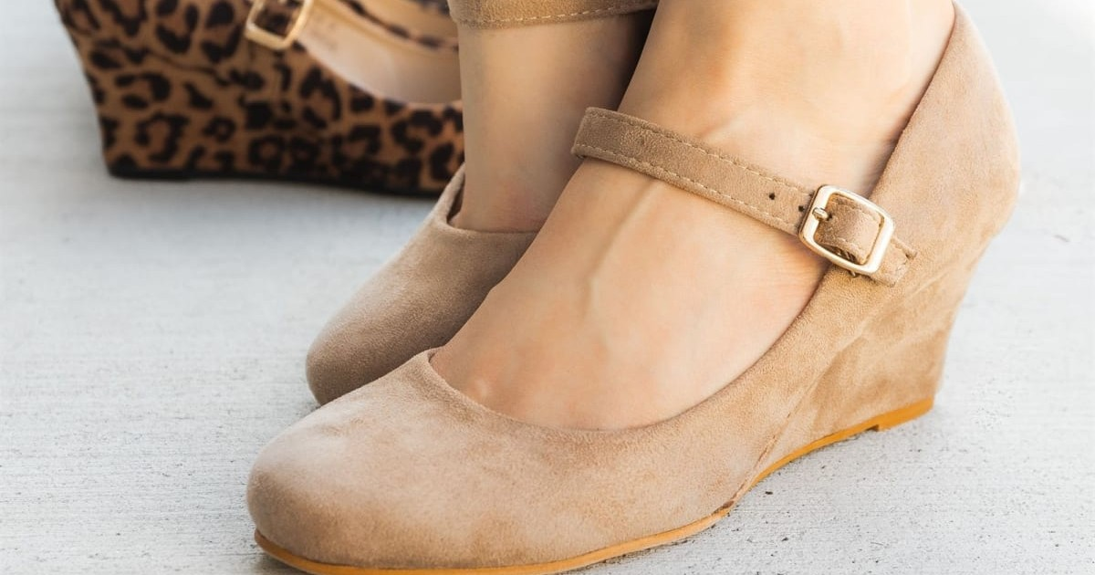 Chic Mary Jane Wedges at Jane